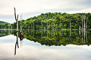 Gary Heller Metal Prints - Summer Morning on Monksville Reservoir 2 Metal Print by Gary Heller