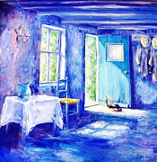 Kitchen Chair Paintings - Summer Morning  by Trudi Doyle