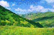 Magomed Magomedagaev - Summer mountains painting
