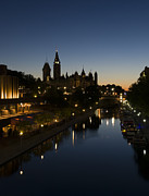 Down Town Prints - Summer Night in Ottawa.. Print by Nina Stavlund