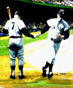 Yankees Painting Prints - Summer Of The Gods  1961 Mickey Mantle Print by Iconic Images Art Gallery David Pucciarelli