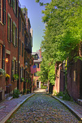 Boston Framed Prints - Summer on Acorn St. Framed Print by Joann Vitali