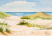 Sand Dunes Paintings - Summer on Cape Cod by Michelle Wiarda