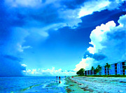 Walking On Sand Prints - Summer on Sanibel Island Print by Jeff Breiman