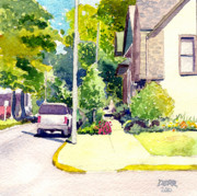 Evansville Painting Prints - Summer On SE 2nd Street Print by Todd Derr