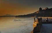 Twilight Prints - Summer Palace in Winter Print by Aaron S Bedell