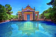 Summer Landscape Art - Summer park with water pool by Michal Bednarek