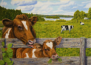 Peaceful Places Paintings - Summer Pasture by Veikko Suikkanen