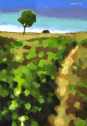 Path Painting Originals - Summer Path by Douglas Simonson