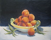Still-life With Peaches Prints - Summer Peaches Print by Roger Clark