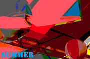 Surfing Art Mixed Media - Summer Pop Art Abstract by Adspice Studios