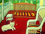 Print On Acrylic Prints - Summer Porch Print by Doreen Kirk