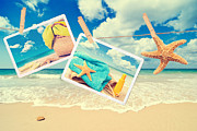 Beach Towel Posters - Summer Postcards Poster by Christopher and Amanda Elwell
