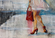 Summer Dresses Paintings - Summer Rain  by Jani Freimann