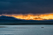 Lake Framed Prints - Summer Rainstorm at Crowley Lake Framed Print by Cat Connor