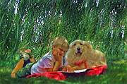 Summer Reading Print by Jane Schnetlage