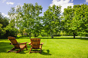 Lawn Chair Art - Summer relaxing by Elena Elisseeva