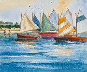 Sandy Shore Prints - Summer Sail Print by Michelle Wiarda