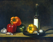 Pepper Paintings - Summer Saute by Rich Kuhn