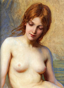 Nudes Art - Summer Seas Detail by Herbert James Draper