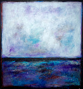 Night Sky Mixed Media - Summer Series A Night at the Ocean by Johane Amirault
