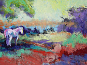 Pasture Prints - Summer Shade with Horse Print by Carol Jo Smidt