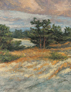 Storm Clouds Cape Cod Paintings - Summer Shadows - Provincetown by Gregory Arnett