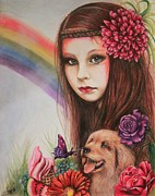Pencil Pastels Prints - Summer Print by Sheena Pike