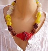 Red Jewelry - Summer Spiral by Nurit Schlomi von-strauss