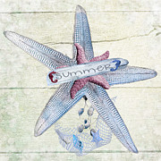 Starfish Digital Art - Summer Starfish by Debra  Miller