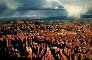 Summer Storm Prints - Summer storm at Bryce Canyon National Park Print by Jetson Nguyen