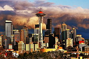 Seattle Skyline Photos - Summer Storm by Benjamin Yeager