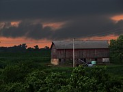 Summer Storm Brewing Print by Laurie Wilcox