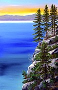 Lake Tahoe Paintings - Summer Sunrise by Frank Wilson