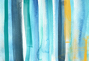 Summer Surf- Abstract Painting Print by Linda Woods