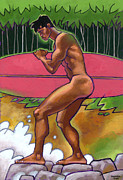 Nude Male Prints - Summer  Swell Print by Douglas Simonson