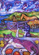 Wild Boar Paintings - Summer Time and The Living Is Easy by Dianne  Connolly