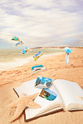 Old Postcards Prints - Summer Vacation Postcards Print by Christopher and Amanda Elwell
