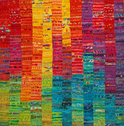 Rainbow Tapestries - Textiles Metal Prints - Summer Vibrations Metal Print by Susan Rienzo