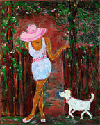 Family Love Painting Originals - Summer Visitor by Xueling Zou