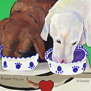 Best Friends Paintings - Summer Wag Ale by Pat Saunders-White