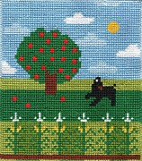 Needlepoint Tapestries - Textiles Posters - Summer Poster by Wendy Bridges