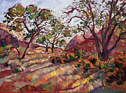 Zion National Park Paintings - Summer Zion by Erin Hanson