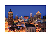 Milwaukee Skyline Framed Prints - Summerfest Eve with border Framed Print by Geoff Strehlow