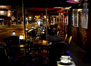Night Cafe Digital Art Prints - Summerlin Cafe Print by Jerry Hart