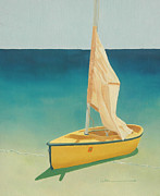 Diane Cutter Paintings - Summers Boat by Diane Cutter