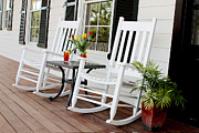 Rocking Chairs Photo Prints - Summertime and sweet tea Print by Toni Hopper