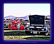 Print On Acrylic Framed Prints - Summertime Class Car Show Framed Print by Bobbee Rickard