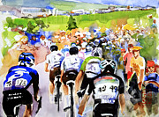 Le Tour De France Posters - Summertime in France Poster by Shirley  Peters