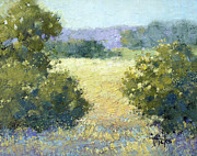 Joyce Hicks Posters - Summertime Landscape Poster by Joyce Hicks